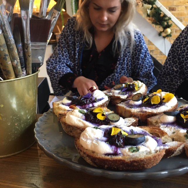 Art partnered with food at MasterPeace London