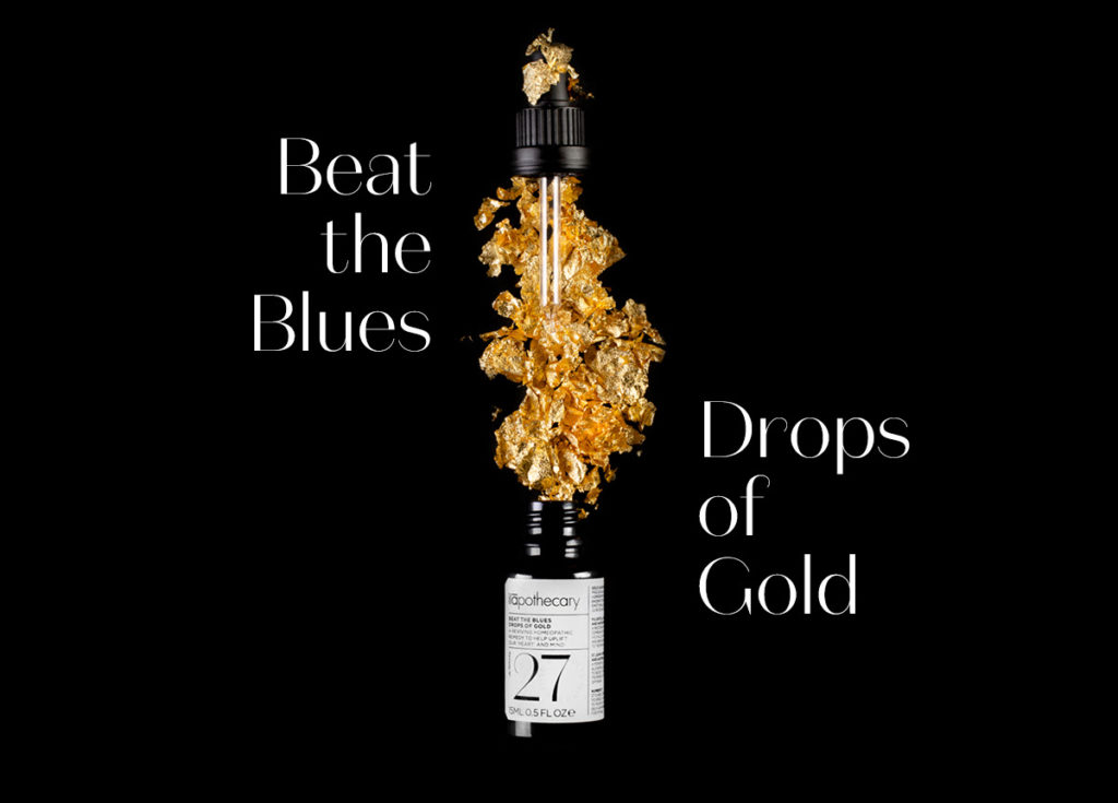 Ilapothecary drops of gold